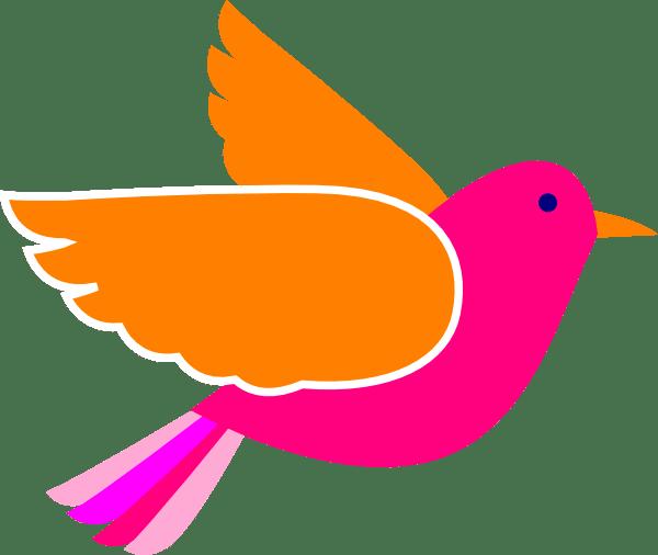 pink birds clip art
