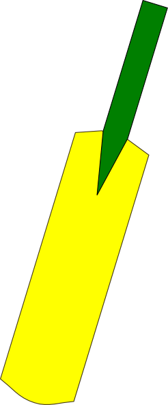 Cricket Bat Png . Cricket Bat Outline Clip Art at Clker.com - vector clip