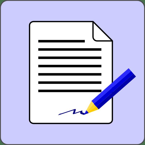 contract clip art