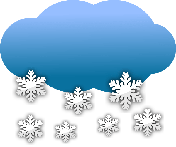 snow clouds clip art