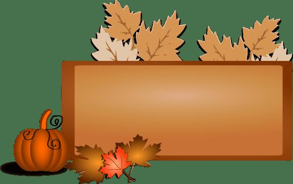 halloween pumpkin banner clip art