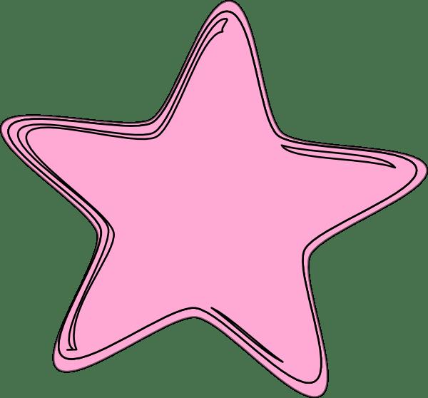 pink star clip art