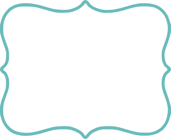 turquoise filled white clip art