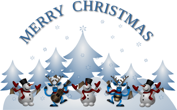 merry christmas card front clip
