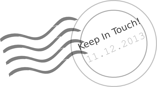 Keep In Touch! 11-12-13 Stamp.png Clip Art at Clker.com