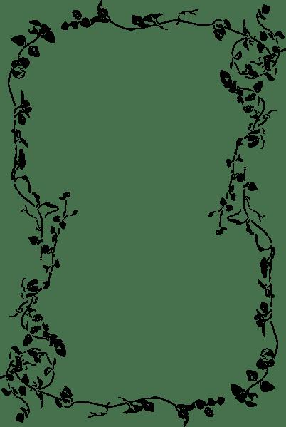 Floral Leave Border Clip Art at Clkercom  vector clip art online royalty free  public domain