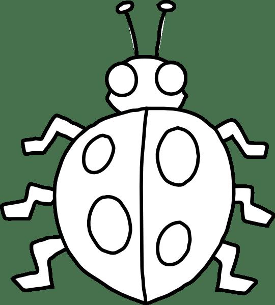 ladybug outline clip art