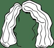 wig clip art - vector