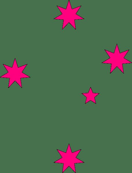 pink stars clip art
