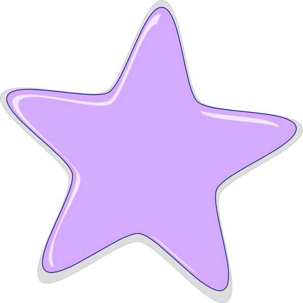 lilac star clip art