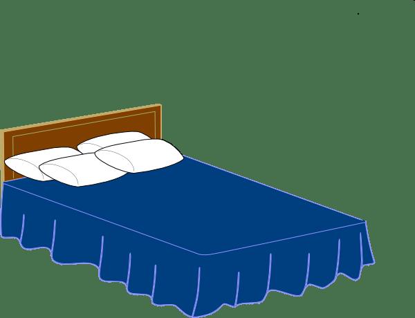 blue bed clip art