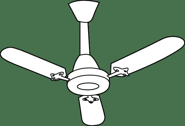 Ceiling Fan Outline Clip Art at Clker.com
