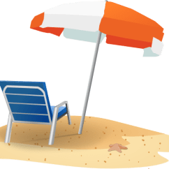 Beach Chair And Umbrella Clipart Pink Covers For Sale Clip Art At Clker Com Vector Download This Image As