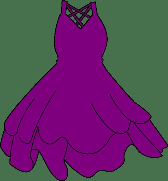 Purple Dress Clip Art at Clkercom vector clip art