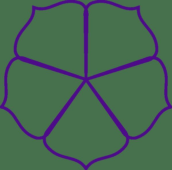 purple flower outline clip art