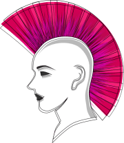 punk with pink mohawk clip art