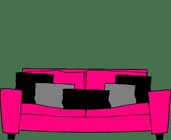 hot pink office chair pocket organizer sofa black gray pillows clip art at clker.com - vector online, royalty free ...