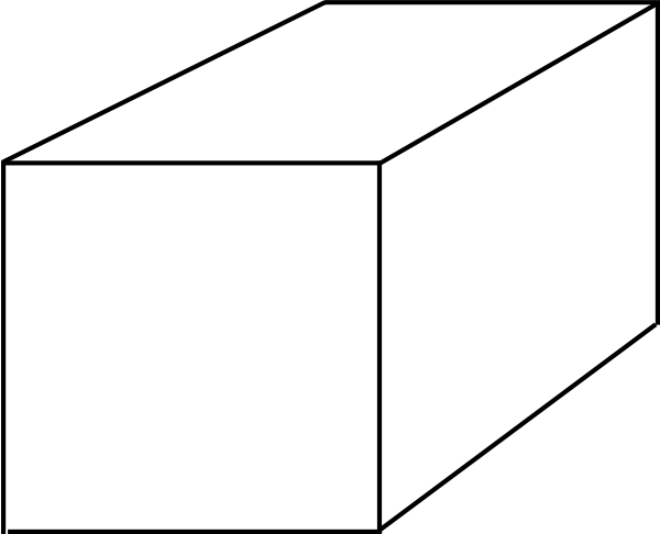3d Rectangle Box Sketch Coloring Page