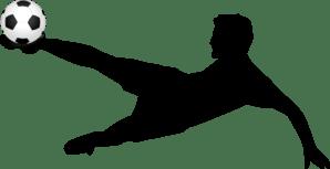 Soccer Player Kicking A Soccer Ball Clip Art