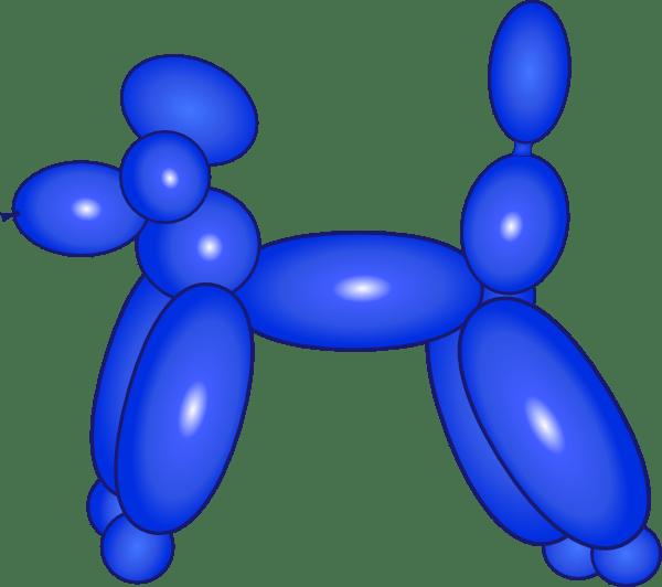 balloon dog blue clip art