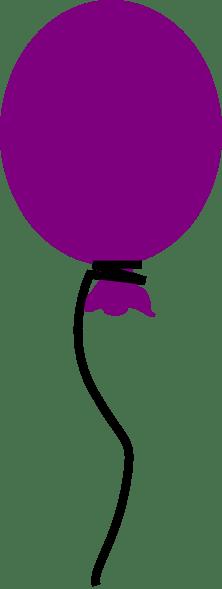 purple balloon clip art