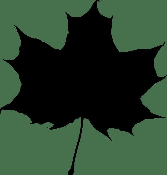 Maple Leaf Silhouette Clip Art At Vector Clip