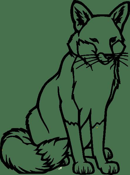 Fox outline clip art clkercom vector clip art online, love bug coloring pages