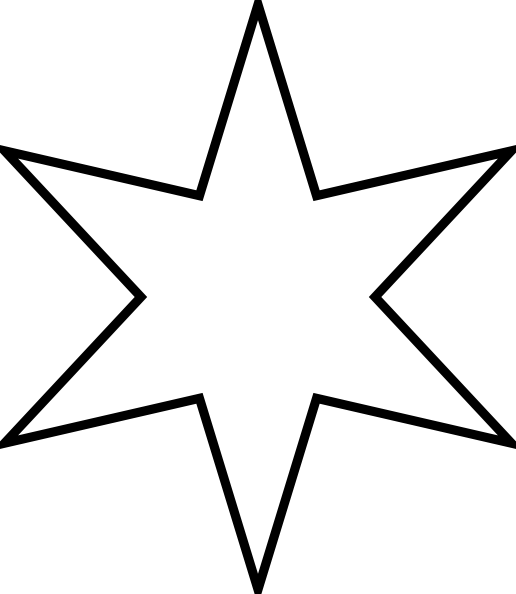 six pointed star clip art