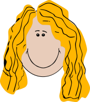 long hair girl clip art