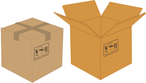 box clip art - vector