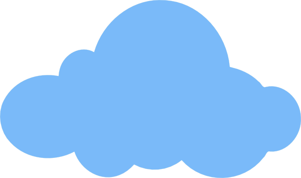 cloud clip art - vector