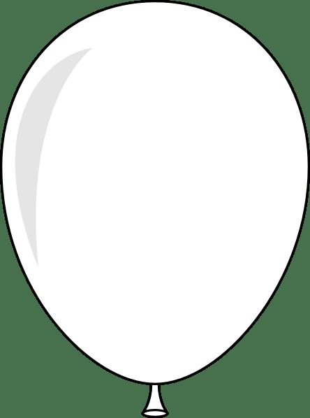 white helium balloon clip art
