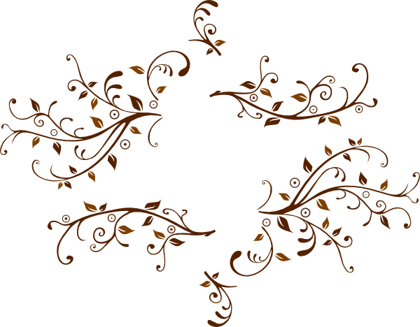 Leaf Swirl With Room For Monogram Clip Art at Clkercom