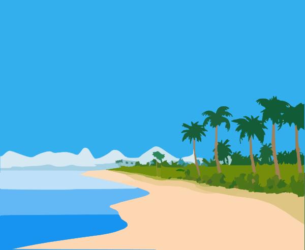 beach landscape clip art