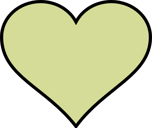 Green Heart Different Colour Clip Art At
