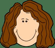 smiling brown hair lady clip art