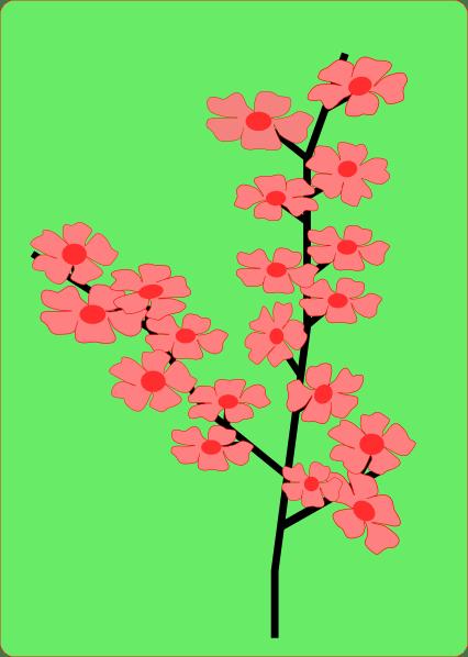 Sakura Flower Clip Art At Clker Com Vector Clip Art