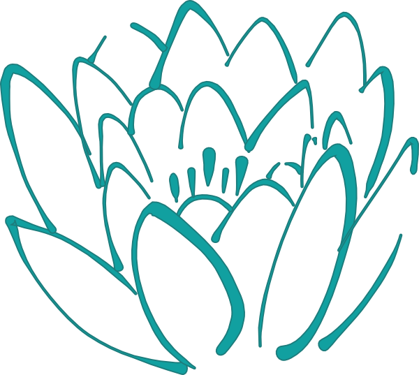 petal teal lotus clip art