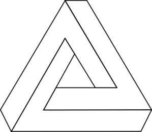 Impossible Triangle Clip Art