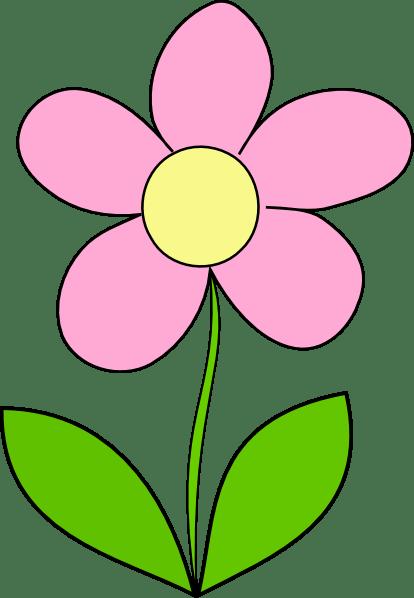 flower pink clip art