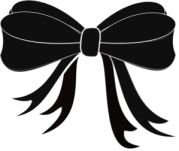black bow ribbon clip art