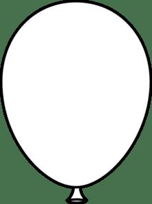 white balloon bold clip art