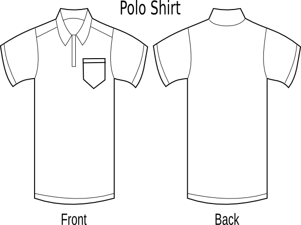 Polo Shirt Front And Back Clip Art At Vector Clip Art Online Royalty Free Amp Public