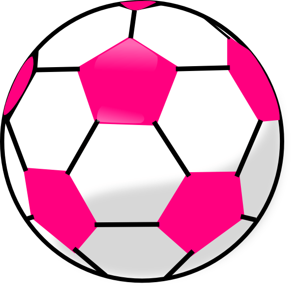 soccer ball with hot pink hexagons