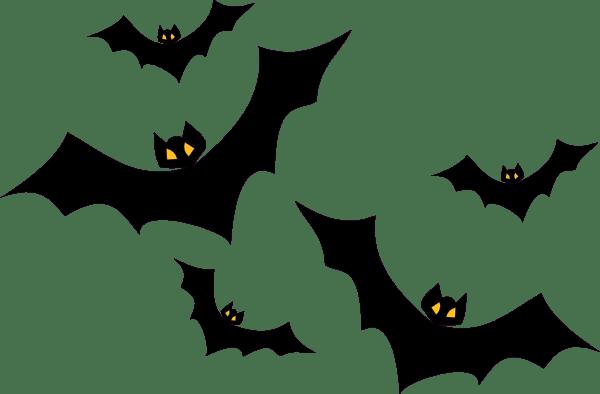 bats clip art - vector