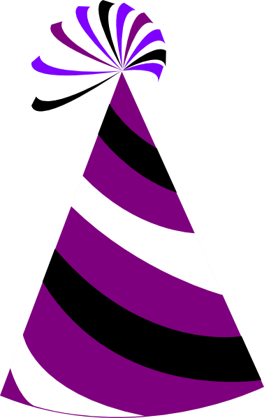 Purple And White Party Hat Clip Art At Clker Com Vector