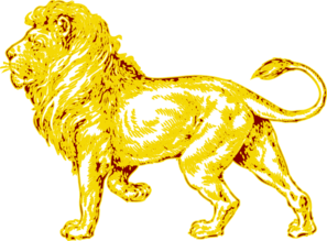 Boy Fall In Love Wallpaper Lion In Gold With Brown Outline Clip Art At Clker Com