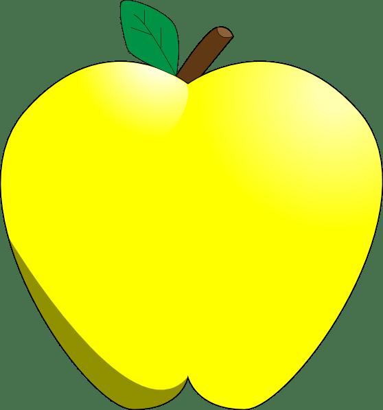 yellow apple clip art