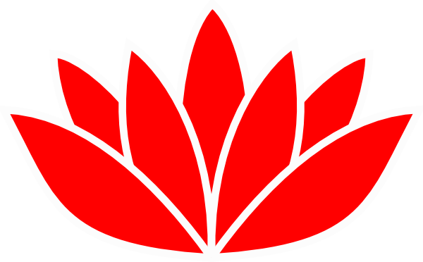red lotus flower clip art