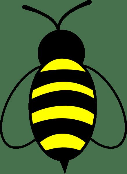 bee slanted wings clip art